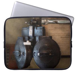 Doctor - Optometry - An old phoropter Computer Sleeves
