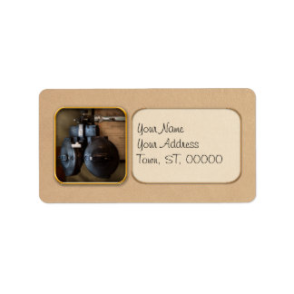 Doctor - Optometry - An old phoropter Custom Address Labels