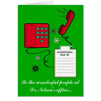 Doctor or Dentist Office Staff Happy Holidays Card