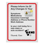 Doctor Patient Information Wall Sign #1 Print