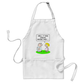 doctor patient pregnant casual friday adult apron