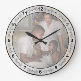 Doctor - Pediatrician - From the heart 1942 Large Clock