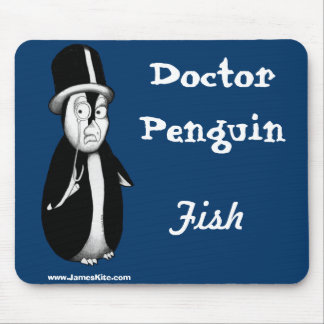 Doctor Penguin: Fish Mouse Pad
