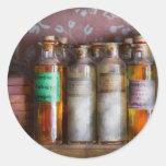 Doctor - perfume - jabón y Colonia Pegatina Redonda