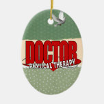 DOCTOR PHYSICAL THERAPY BIG RED CERAMIC ORNAMENT