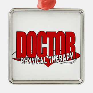 DOCTOR PHYSICAL THERAPY BIG RED METAL ORNAMENT