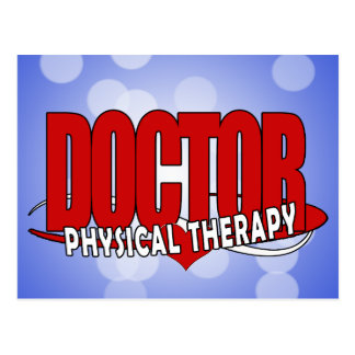 DOCTOR PHYSICAL THERAPY BIG RED POSTCARD
