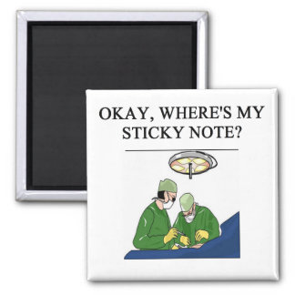doctor physician surgeon joke 2 inch square magnet