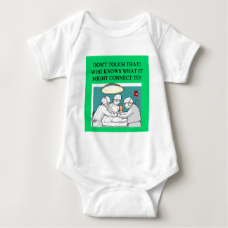 doctor physician surgeon joke baby bodysuit
