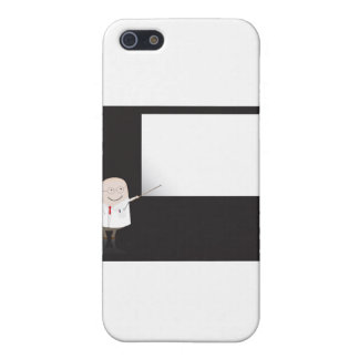 Doctor pointing at blank board iPhone 5 covers