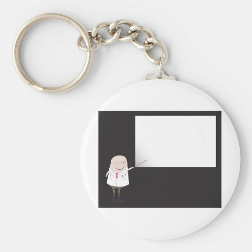 Doctor pointing at blank board keychain