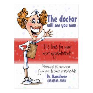 Doctor/postal médica del recordatorio de la cita tarjetas postales