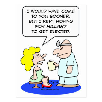 doctor que espera a hillary Clinton elegido Tarjetas Postales