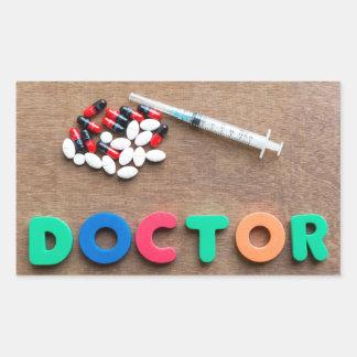 Doctor Rectangular Sticker