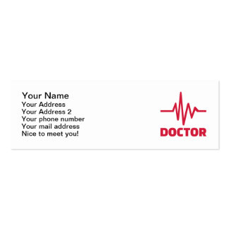 Doctor red frequency Double-Sided mini business cards (Pack of 20)