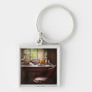 Doctor - Research Silver-Colored Square Keychain