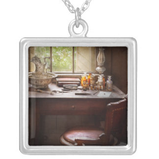Doctor - Research Square Pendant Necklace