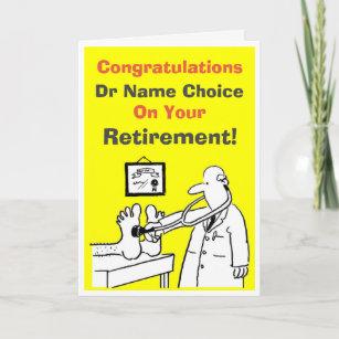 doctor retirement cards zazzle