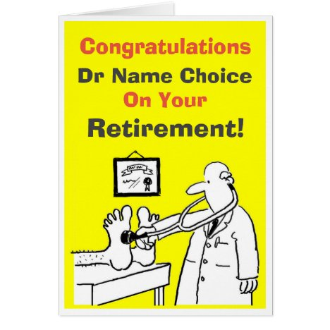 Doctor Retirement Card