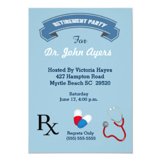 Doctor Retirement Invitation
