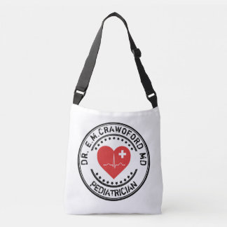 Doctor Rubber Stamp Heart ECG With Your Name Crossbody Bag