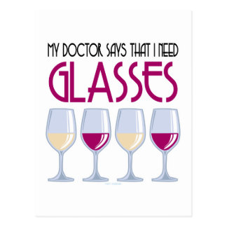 Doctor Says I Need Glasses Postcard