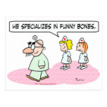 doctor specializes funny bones groucho glasses postcards