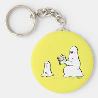 doctor spook basic round button keychain