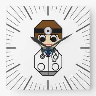 Doctor Square Wall Clock