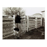 Doctor Standing by a Fence Post Card