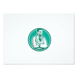 Doctor Stethoscope Standing Circle Retro 5x7 Paper Invitation Card