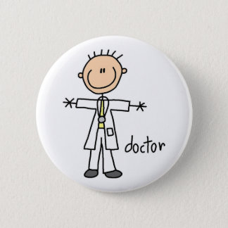 Doctor Stick Figure Button