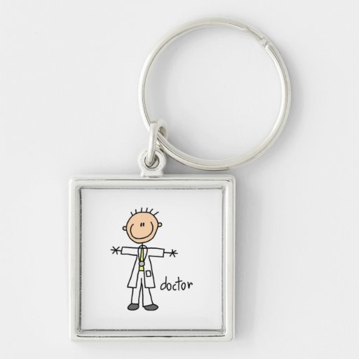 Doctor Stick Figure Keychain