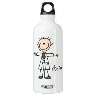 Doctor Stick Figure Water Bottle