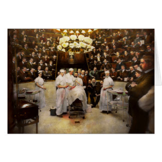 Doctor - Surgeon - Standing room only 1902 Card