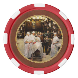 Doctor - Surgeon - Standing room only 1902 Set Of Poker Chips
