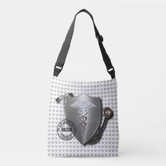 Doctor Symbols Caduceus On Stethoscope And Stamp Crossbody Bag
