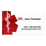 Doctor, terapeuta, ambulancia, tarjeta del médico tarjeta de negocio