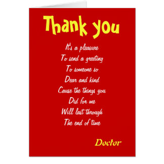Thank You Doctor Cards | Zazzle