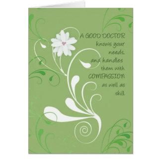 Doctor Thank You, Green Swirls Card
