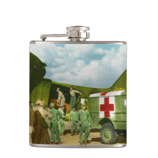 Doctor  - Transferring the wounded Hip Flasks