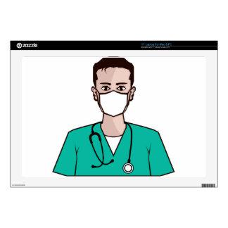"Doctor vector 17"" laptop skin"