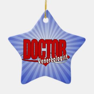DOCTOR Venereologist del LOGOTIPO Adorno Navideño De Cerámica En Forma De Estrella