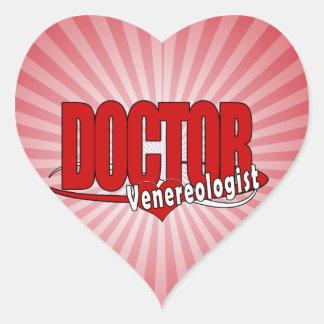 DOCTOR Venereologist del LOGOTIPO Pegatina En Forma De Corazón