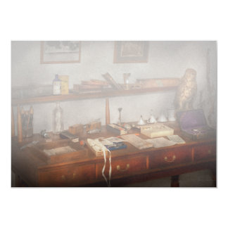 Doctor - Vet - The desk of a Veterinarian Card
