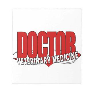 DOCTOR VETERINARY MEDICINE BIG RED NOTEPAD