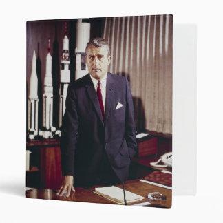 Doctor Wernher von Braun Portrait 3 Ring Binder