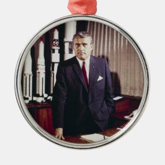Doctor Wernher von Braun Portrait Metal Ornament