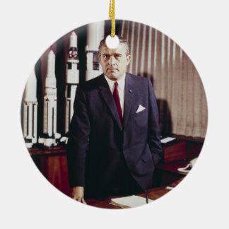 Doctor Wernher von Braun Portrait Christmas Tree Ornament