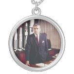 Doctor Wernher von Braun Portrait Round Pendant Necklace